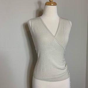 🌵3X$25 Ann Taylor Wrap Blouse Size XS